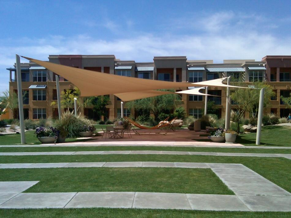Hypar shade sails for Home shade structures