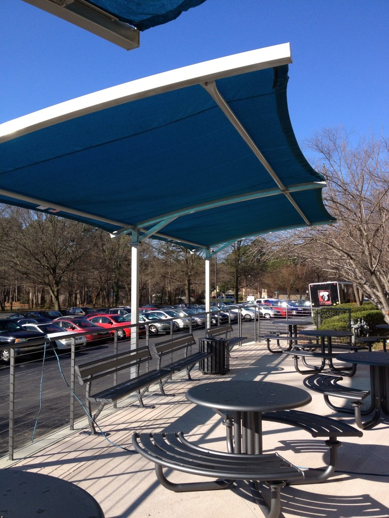 Blue shade structure for Shade structures