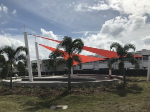 1Sarasota High School - Sails Side View - Atomic Orange