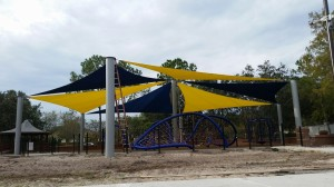 Glencliff Park Yellow and Navy Blue Sails Tampa Fl