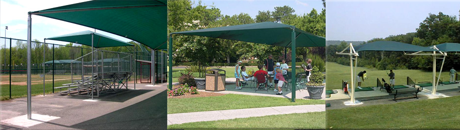 Golf Course Shade Fabric Structure