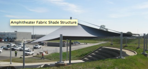 Amphitheater Shade Sail Cover 3c