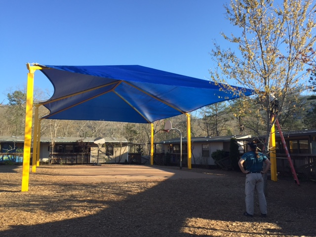 Basketball Shade Structure