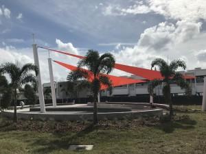 1Sarasota High School - Sails Side View - Atomic Orange